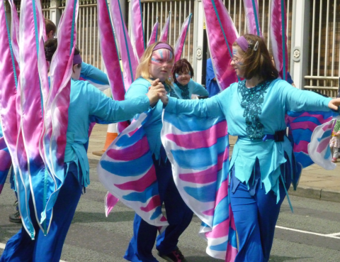 Inclusive dance charity DanceSyndrome at Manchester Carnival